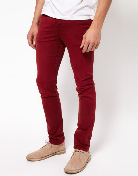 Red Skinny Jeans For Men | Neuw Jeans Iggy Skinny Red Stretch in Red for Men