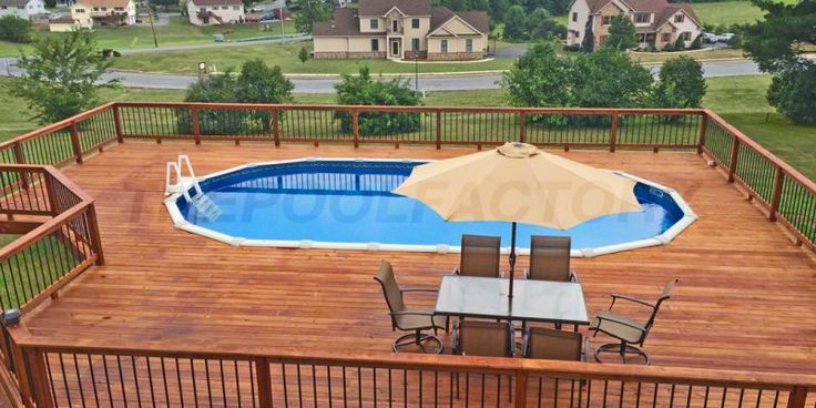 7 best pool images on pinterest above ground swimming for Above ground pool decks tampa