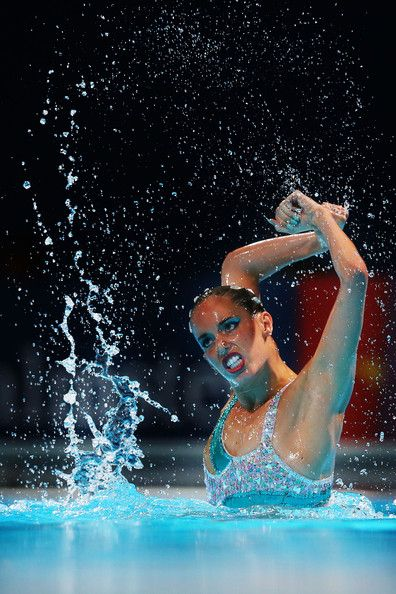 Carbonell Ballestero of Spain competes in the Synchronized Swimming Solo Free final on day five of the 15th FINA World Championships at Palau Sant Jordi on July 24, 2013 in Barcelona, Spain.