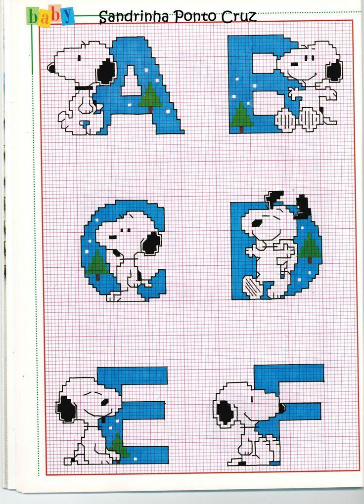 Sandrinha Ponto Cruz: Especial Snoopy...Camila Baby