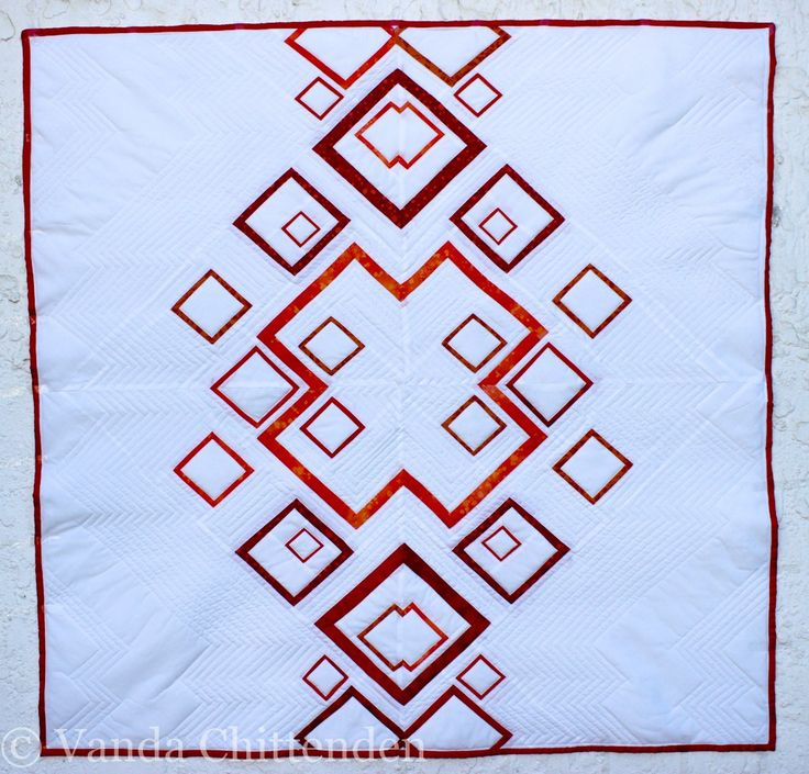 Finally I can share my newest pattern, the orange geometric quilt.