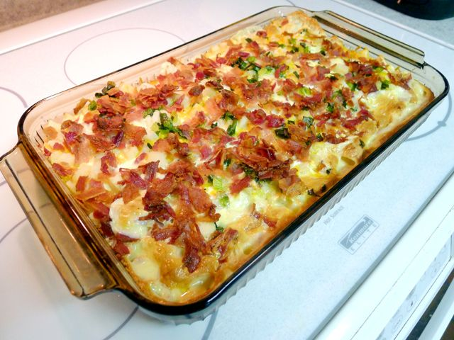 potato & bacon breakfast casserole | Breakfast Creations | Pinterest
