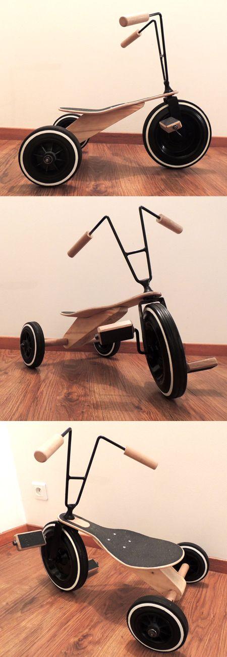 Tricycle bois enfant