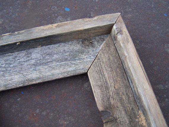 8x8 Deluxe Barnwood Picture Frame Rustic by bluebarnfleamarket, $9.00