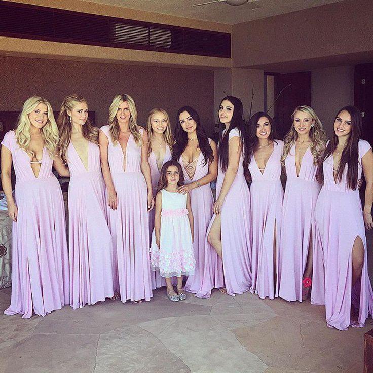 5/23/2015: Paris Hilton (bridesmaid) & Nicky Hilton (bridesmaid) at the wedding of Thayer Wiederhorn & Brooke Brinson