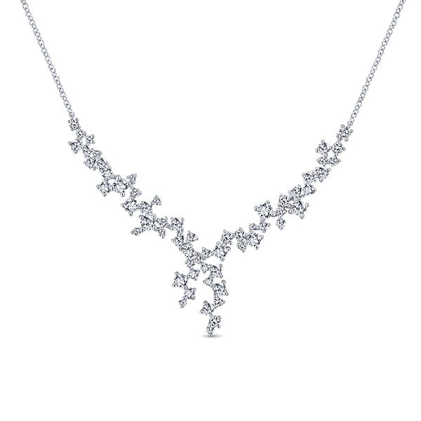 Gabriel - 18k White Gold Waterfall Fashion Necklace
