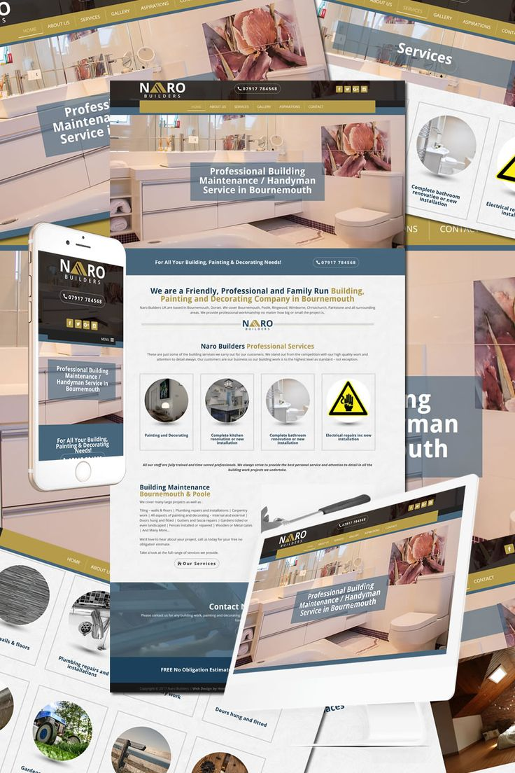 The New Website for Naro Builders in Bournemouth https://hostcat.co.uk/project/naro-builders-uk/