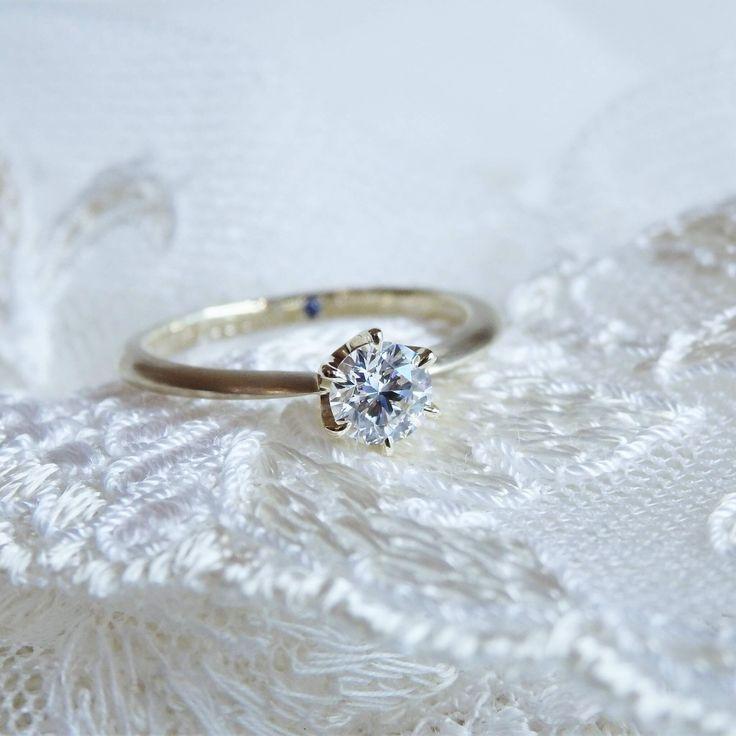 マット加工を施し落ち着いた印象に仕上げたソリテール [engagement,wedding,ring,bridal,diamond,ダイヤモンド,エンゲージリング,婚約指輪,オーダーメイド,ウエディング,ith,イズマリッジ]