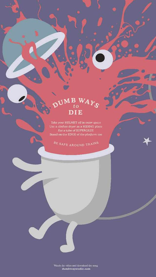 Dumb Ways to Die_Helmet - Funny Cartoon iPhone wallpapers @mobile9