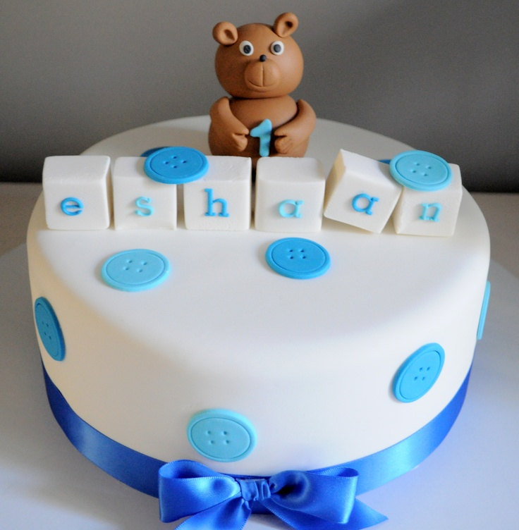 Sweet Sense Cakes teddy bear and name blocks cake Cakes ...