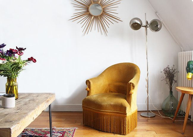 43 best salon images on pinterest home salons and furniture - Fauteuil crapaud vintage ...