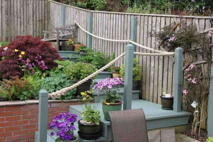 17 best images about beach deckings on pinterest gardens for Garden decking with rope