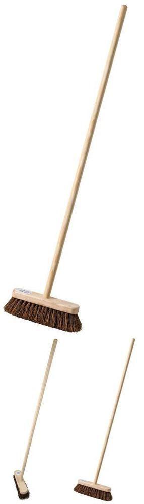 Handle Broom Bassine 10 Inch Stiff Sweeping Victory Brush Yard Outdoor