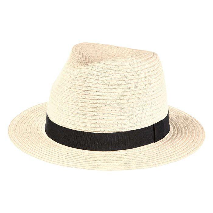 Wide Brim Panama Hat in Natural from Joe Fresh