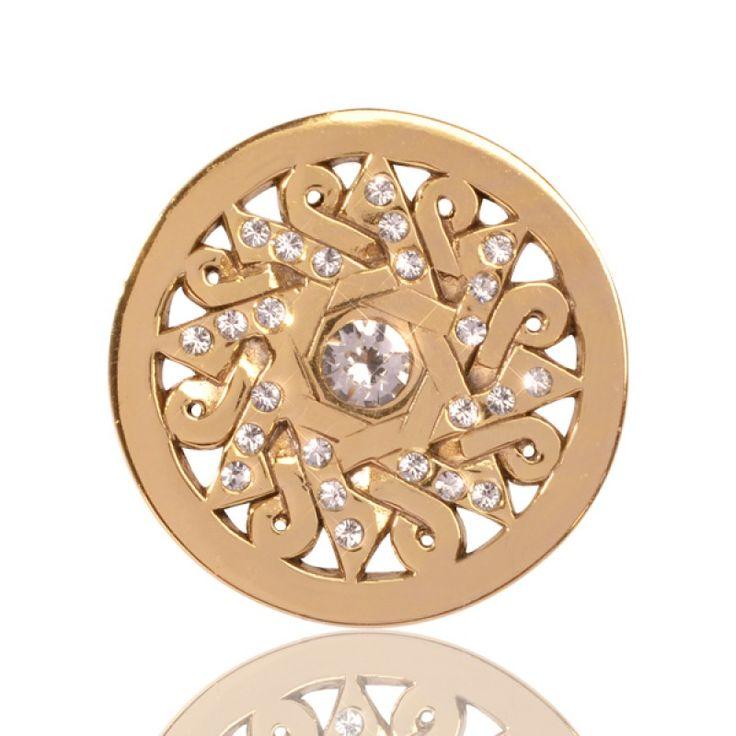 Nikki Lissoni Gold Plate Moroccan Dream Coin 23mm