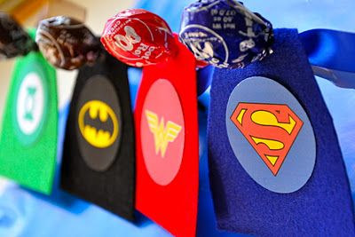 Superhero Valentines (with FREE printable logos and sayings). Cute for Valentines Day hand outs for kids or change the sayings and use these as party favors for a little boys birthday party. Just takes 20 minutes plus everything you need for printables is a free download! ( i want to do this for my cousin)