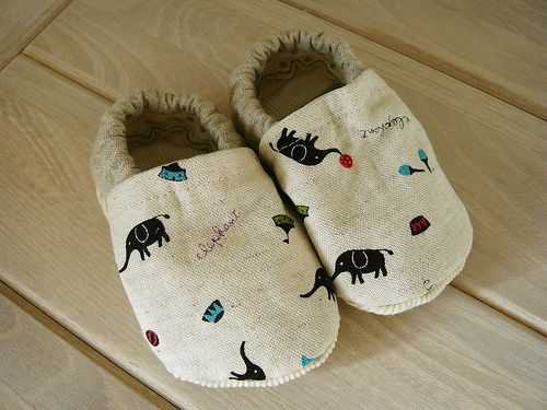 This tutorial...cloth baby shoes...follow link...