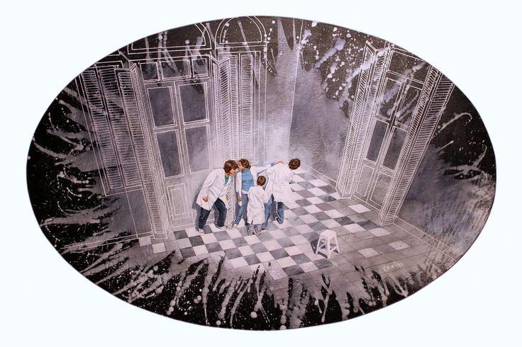 """""""El Secreto"""" . acrílico sobre lienzo . 100x65cm . (2011) de Claudio Gallina, pintor argentino"""