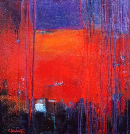 'Abstrakt Nr.25  Flammenrot' von Claudia Neubauer bei artflakes.com als Poster oder Kunstdruck $5.94