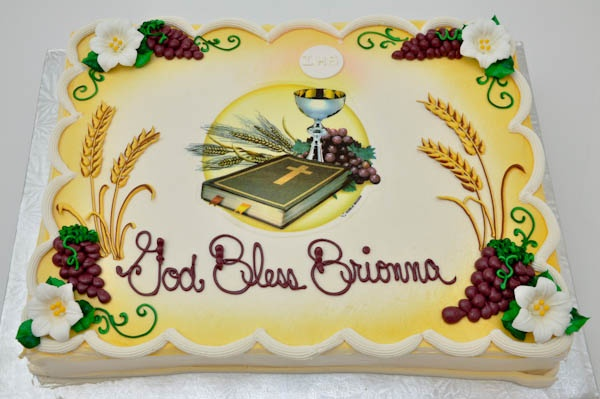 1st First Holy Communion Cake Chalice What Bible