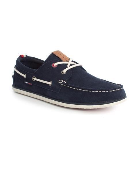 Náutico Tommy Hilfiger. Modelo Miles 1B. Elaborado en serraje. Color marino.  #tommyhilfiger #style #tiendaonline #zapato #zapatos