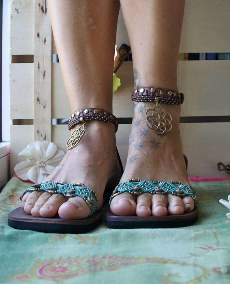 macramè sandals