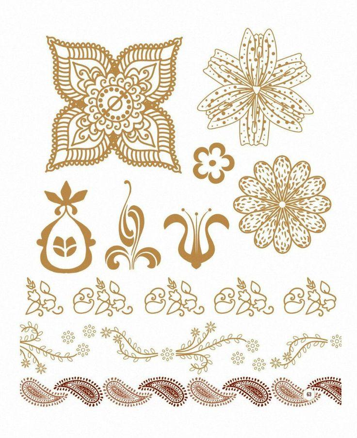 Узоры для росписи  хной – 177 фотографий