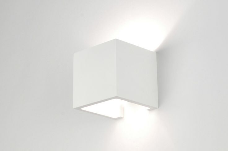 wandlamp  71350: modern, keramiek, wit, mat, vierkant ...