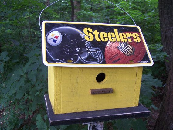 Steelers football bird house