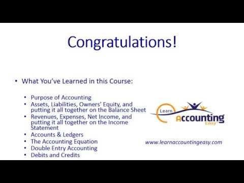 15 best learn basic accounting in 38 minutes fast easy images congratulations course summary links video 14 of fandeluxe Choice Image