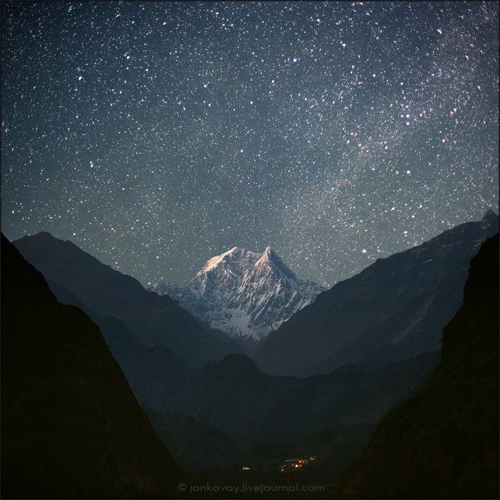 nepalUnder The Stars, Mountain, Starry Sky, Night Skies, Starry Night, Beautiful, Night Sky, Heavens, Nepal