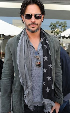 Joe Manganiello and John Varvatos Antiquated American Flag Scarf Photograph