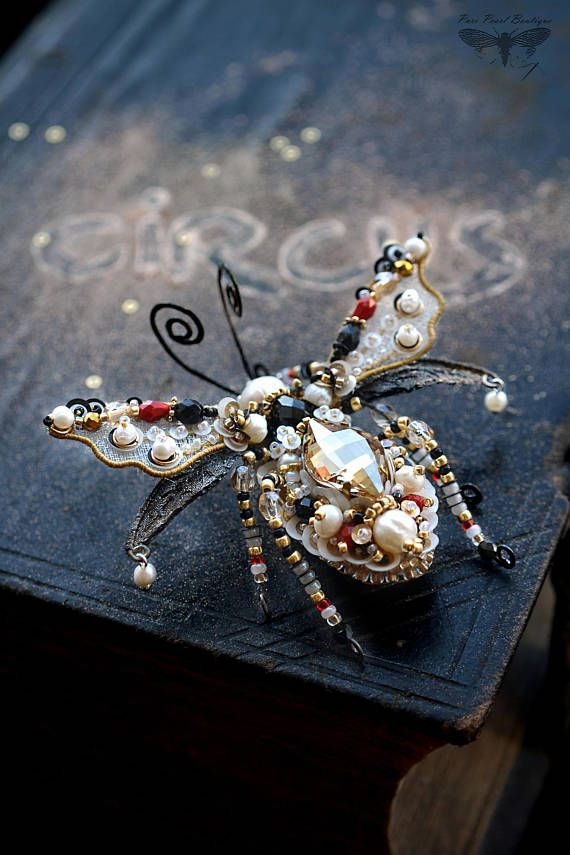 Statement jewelry Insect jewelry Beetle brooch Insect art