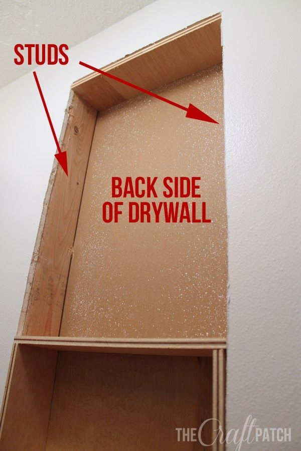 How To Build a Shelf Between Studs. This is an easy way to add extra storage to a room that doesn't have space for furniture. Once it's all trimmed out, it looks really nice!