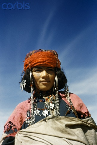 Africa | Portrait of a nomadic North African woman. Algeria | © Maynard Owen Williams/National Geographic Society/Corbis
