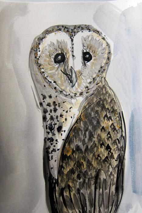 """Barn Owl Ben"" by Rachel Carroll. Paintings for Sale. Bluethumb - Online Art Gallery"