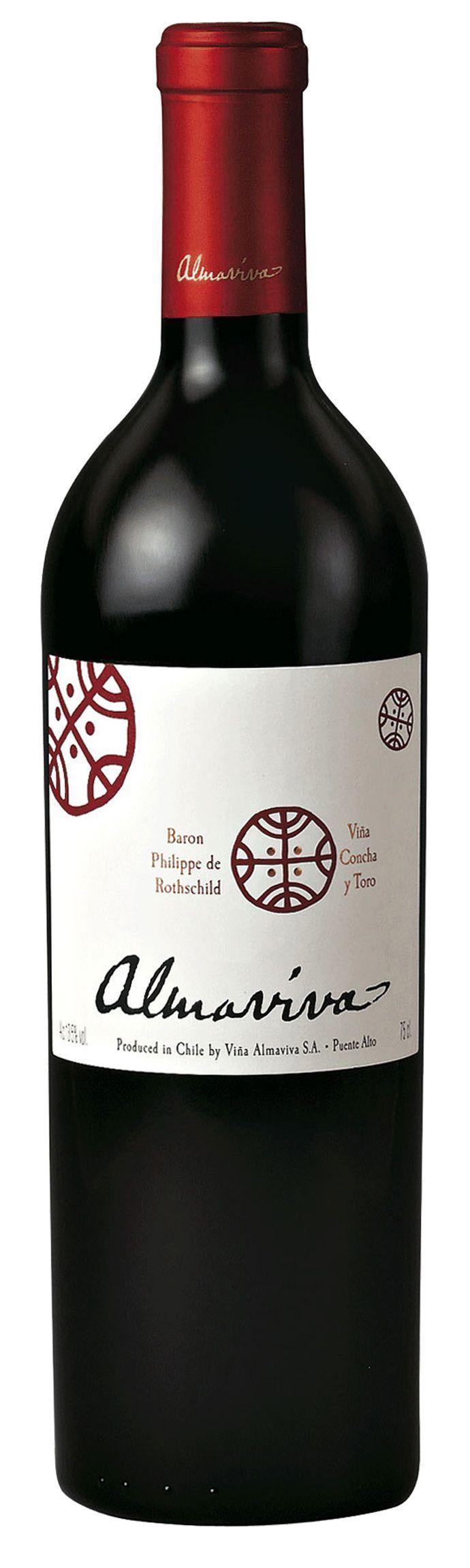 French-Chile wine : Baron Philippe de Rothschild Almaviva 2010 - Puente Alto - Chile - Maipo Valley - Blend