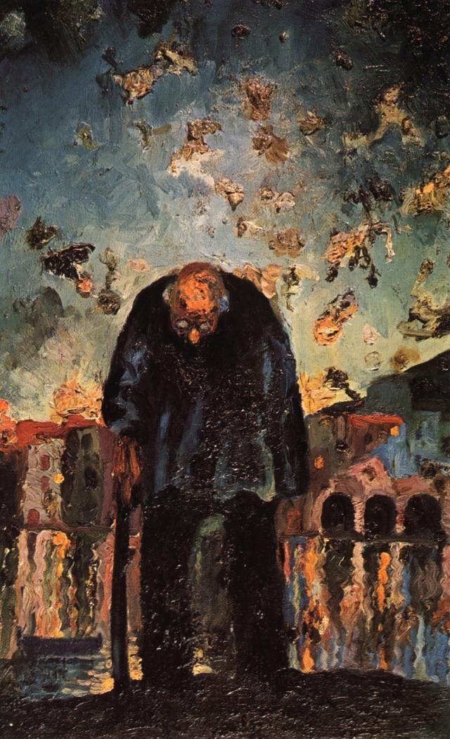 Salvador Dali, Crepuscular Old Man, 1917