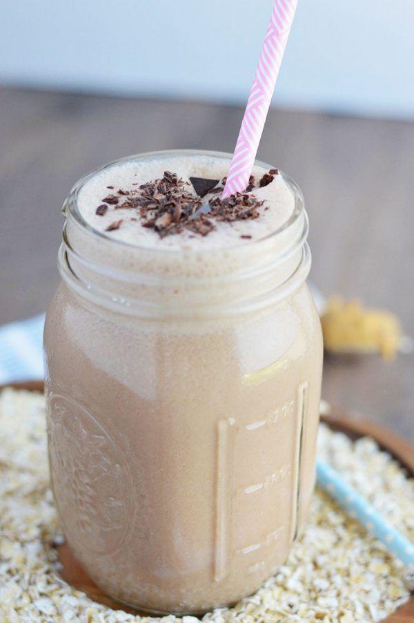 Diese Schokoladen-Erdnussbutter-Haferflocken-Smoothies sind eine …   – Gluten Free & Paleo