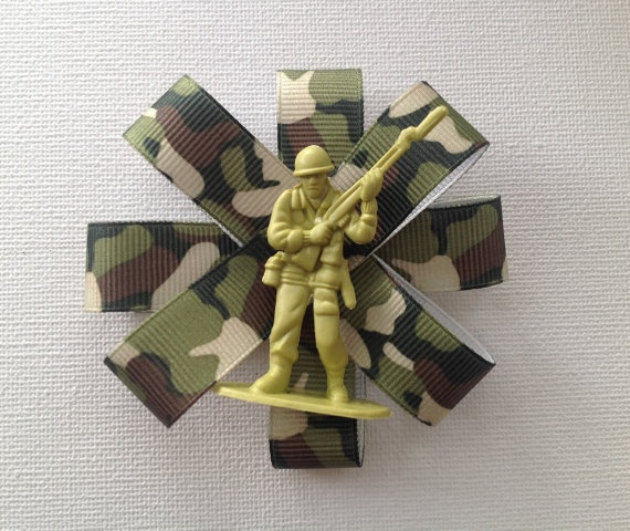 Green Army Man Camouflage Brooch by Mogglepops on Etsy, €6.99