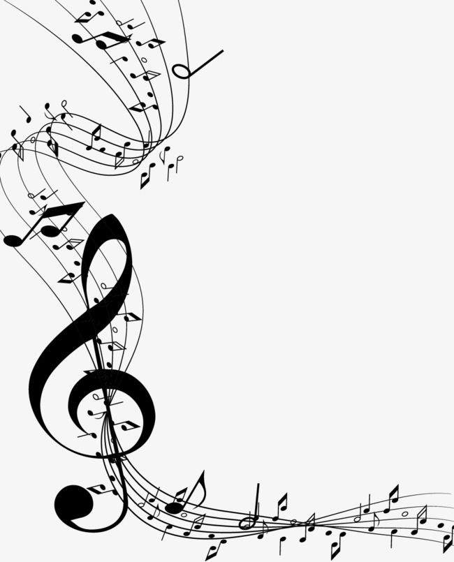 Vector Painted Sheet Music And Music Symbol Png And Vector Music Notes Art Music Symbols Music Notes Drawing