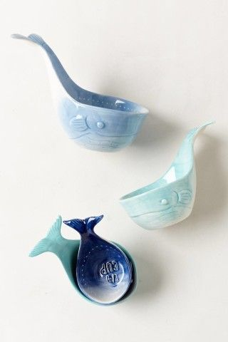 Whale-Tail Measuring Cups. These are way too cute.