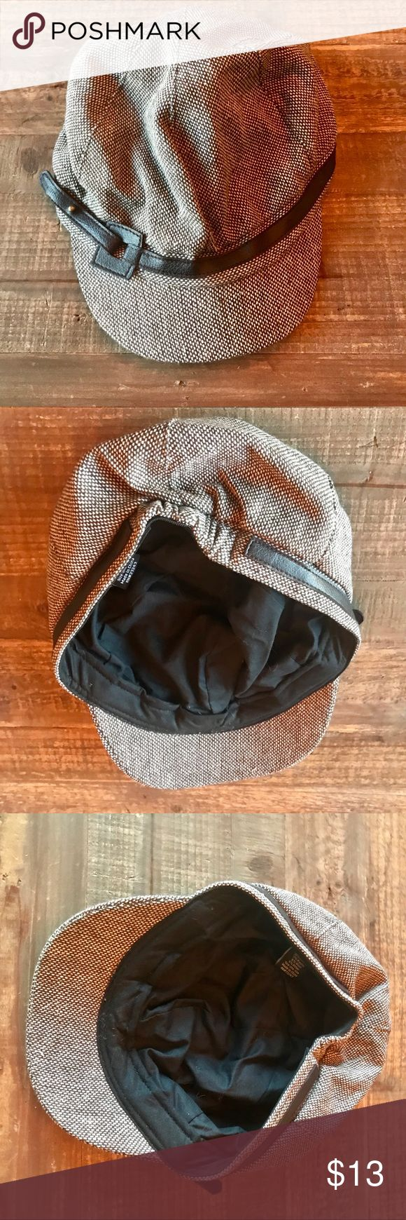 New York & Co Brown twill novelty hat Only worn once, in great condition. New York & Company Accessories Hats