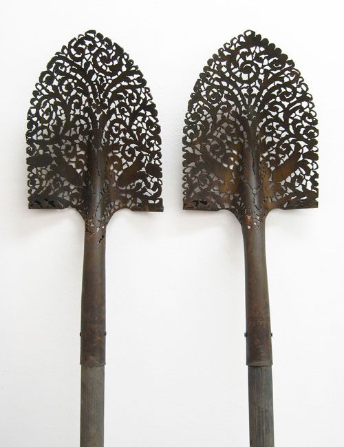 crossconnectmag:  Lace Detailed Steel Objects ofCal Lane    Cal...