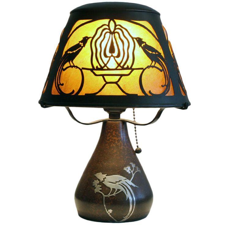 31 best arts and crafts lighting images on pinterest artesanato heintz art metal bird of paradise lamp aloadofball Choice Image
