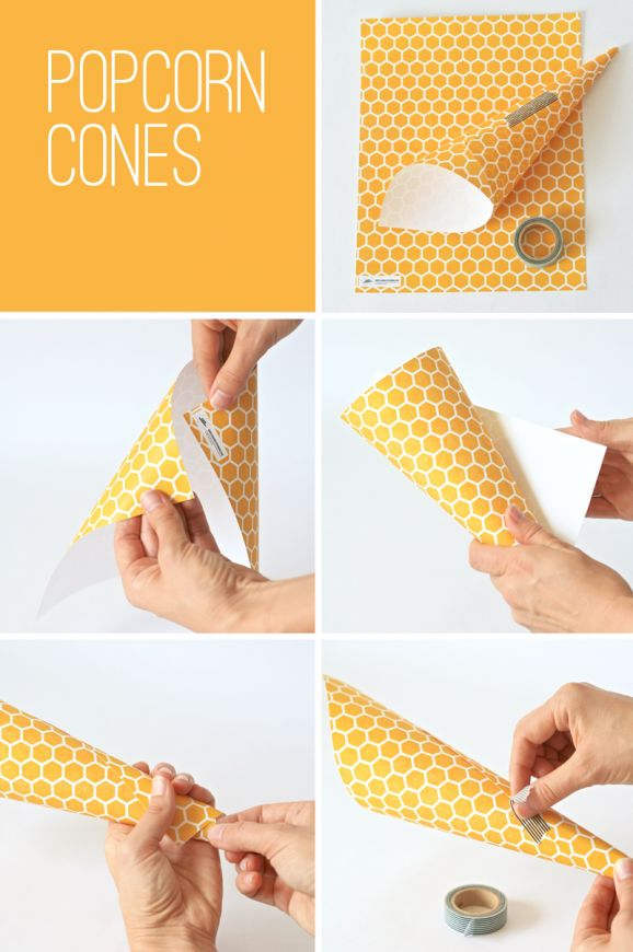 How to Make Popcorn Cones at PagingSupermom.com #disneywinnie I am going to download this for the popcorn