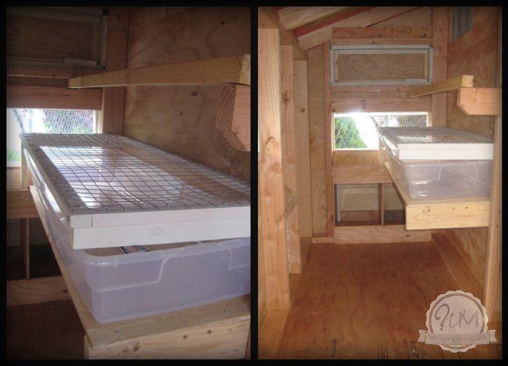 Inside Chicken Coop Roost Bar-Box