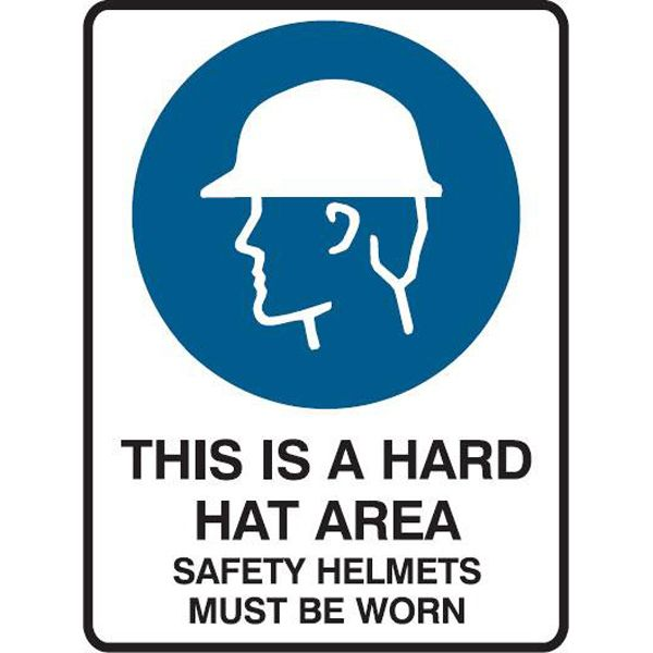 Construction Site Signs Creations Group Hard Hat Area Safety Helmets Worn Safety Sign Safety Helmet Parking Solutions