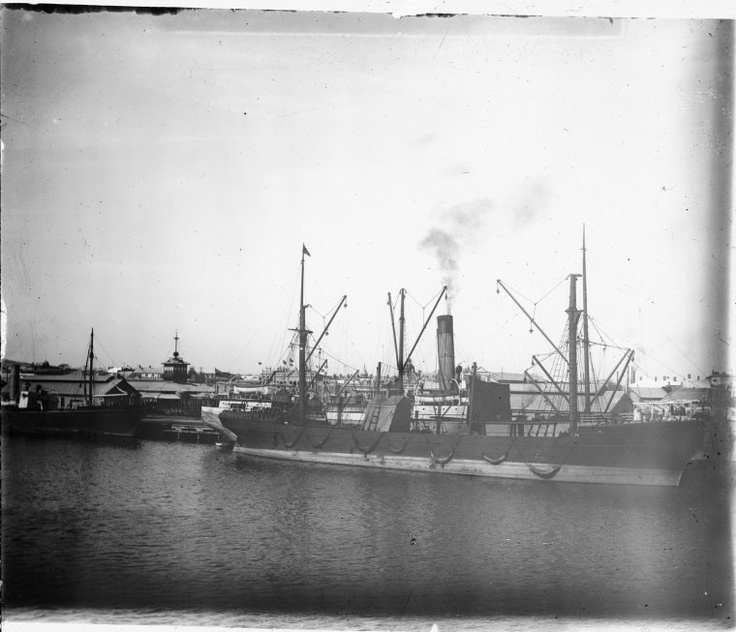 Ships in Fremantle Harbour, 1906-07