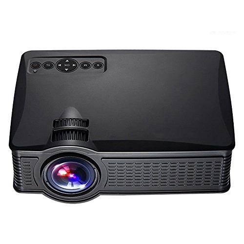 Portable Mini HD Projector 1080p, 1500 Lumens LED Video Projector For Home Theater Movies Iphone Android iPad Tablet Via HDMI AV VGA USB SD (WE40 Black) | Home Theater Projector Reviews And Ratings